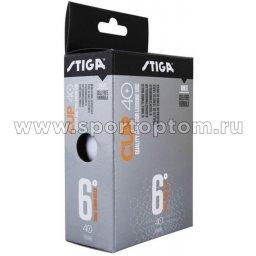 Шарики для настольного тенниса  Stiga КАП ABS 6шт  2510-06 40 мм Белый
