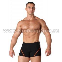 Плавки-шорты мужские SHEPA 051 Черно-оранжевый (1)