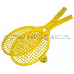 Бадминтон пластиковый Пляжный 2 ракетки +1 мячик У712 Желтый