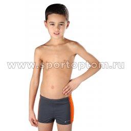 Плавки-шорты детские SHEPA со вставками 015 Серо-оранжевый
