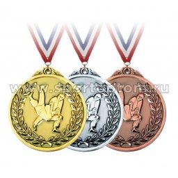 Медали INDIGO Единоборства d65мм к-т 3шт: зол.,сереб.,бронза 65019 ZS                  65 мм