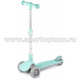 Самокат детский INDIGO FAST трехколесный до 50 кг IN244 Бирюзовый
