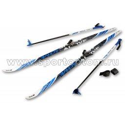 Лыжный комплект полупластиковый STC (лыжи, 75 крепления, палки) CA-023 160 см