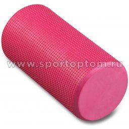 Ролик массажный для йоги INDIGO Foam roll  IN045 30*15 см Розовый