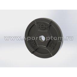 Диск чугунный окрашенный 26 мм EURO CLASSIC EK-211                    2,5 кг Черный