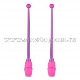 Булавы для художественной гимнастики вставляющиеся INDIGO IN019 45 см Фиолетово-розовый