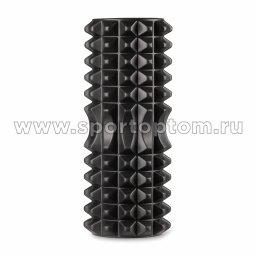 Ролик массажный для йоги INDIGO PVC IN267 черный (2)