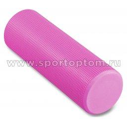 Ролик массажный для йоги INDIGO Foam roll IN021 розовый
