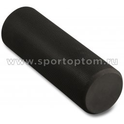Ролик массажный для йоги INDIGO Foam roll  IN021 15*45 см Черный