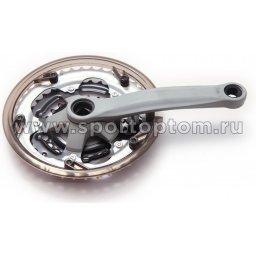 Вело Шатуны комплект сталь, к-во зубьев на звездах 24*34*42  366(32)P-GS               170 мм Серебристый