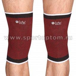 Суппорт колена эластичный INDIGO  2001A-TSP Черно-красный