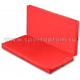 Мат гимнастический складной SM-108 Красный-синий