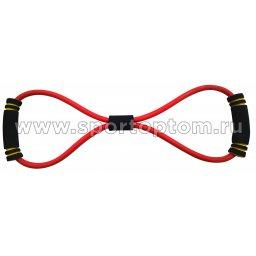 Эспандер Восьмёрка LATEX INDIGO LIGHT 1 жгут (ВАЙЛ) SM-063 Красный