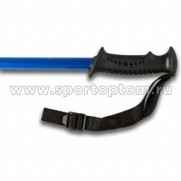Палки для скандинавской  ходьбы телескопические INDIGO SL-1-3 Синий пластмассовые ручки (2)
