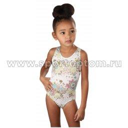 Купальник для плавания детский слитный набивной рисунок 4930