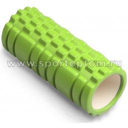 Ролик массажный для йоги INDIGO PVC  IN077 14*33 см Салатовый
