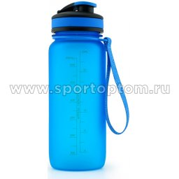 Бутылка для воды с сеточкой и мерной шкалой UZSPACE 650мл тритан 3030 Синий матовый (4)