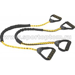 Эспандер для степа PRO SUPRA 1 жгут 003-RB 114 см Желто-черный