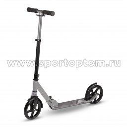 Самокат взрослый INDIGO SCAMPER до 100 кг, колеса 200 мм IN255 Серо-черный