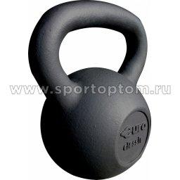 Гиря чугунная 16,0 кг (порошковая окраска) EK-203 16 кг Черный