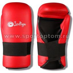Перчатки 7-CONTACT INDIGO PU c открытой ладонью  UL-3645 M Красный