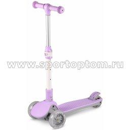 Самокат детский INDIGO FAST трехколесный до 50 кг IN244 Фиолетовый