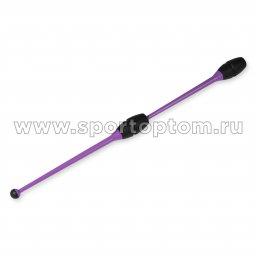Булавы для художественной гимнастики вставляющиеся INDIGO Фиолетово-черный (2)