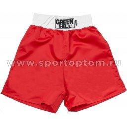 Трусы боксёрские Green Hill CLUB полиэстер  BSC-6321 Красный
