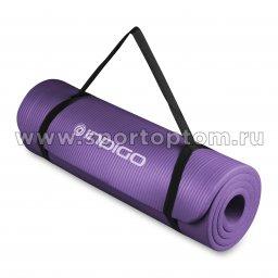 Коврик для йоги и фитнеса INDIGO NBR IN104 Сиреневый (3)