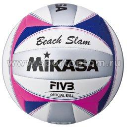 Мяч волейбольный MIKASA  пляжный машинная сшивка VXS-12 Бело-серо-розовый