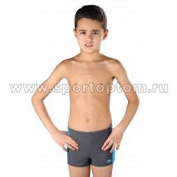 Плавки-шорты детские SHEPA со вставками 015 Серо-голубой