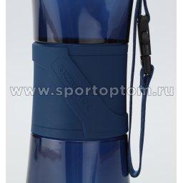 Бутылка для воды с нескользящей вставкой, сеточка, шарик UZSPACE 500мл тритан 6010 Темно-синий (3)