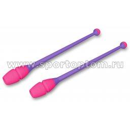 Булавы для художественной гимнастики вставляющиеся INDIGO Фиолетово-розовый (3)