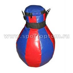 Груша боксёрская SM (армированный PVC) SM-013 8 кг Сине-красный