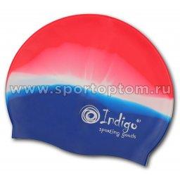 Шапочка для плавания силиконовая INDIGO  110 SC  Мультицвет
