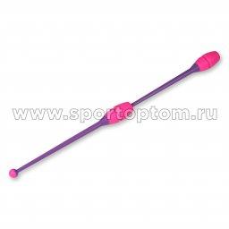 Булавы для художественной гимнастики вставляющиеся INDIGO Фиолетово-розовый (2)