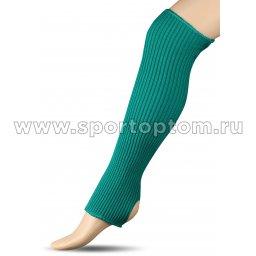 Гетры для гимнастики и танцев Шерсть СН1 40 см Зеленый