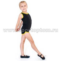 Шорты гимнастические детские INDIGO c окантовкой SM-343Черный-желтый (1)