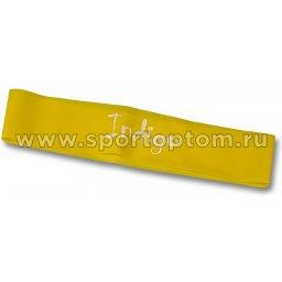 Эспандер Лента латекс замкнутая INDIGO LIGHT (2-5 кг) 6004-1 HKRB 46*5*0.035см Желтый