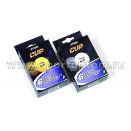 Шарики для настольного тенниса  Stiga КАП ABS 6шт  2503-06 40 мм Оранжевый