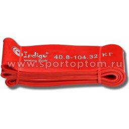 Эспандер резиновая петля сопротивления Кроссфит INDIGO 97660 IR 208*8,3см Красный