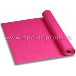 Коврик для йоги и фитнеса INDIGO PVC YG03 173*61*0,3 см Цикламеновый