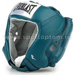 Шлем боксерский EVERLAST USA Boxing натуральная кожа  610406U L Бирюзовый