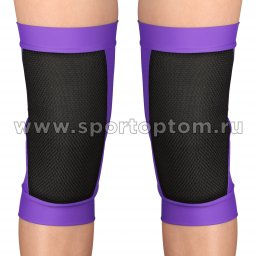 Наколенник для гимнастики и танцев Сетка INDIGO SANDRA удлинённый усиленный  SM-378 M Фиолетовый