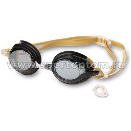 Очки для плавания детские INDIGO RUFF сменная переносица  10130-4 Черный