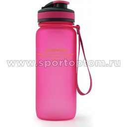 Бутылка для воды с сеточкой и мерной шкалой UZSPACE 650мл тритан 3030 Розовый матовый (1)