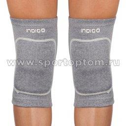 Наколенник для гимнастики и танцев INDIGO эластичный IN211 M Серый