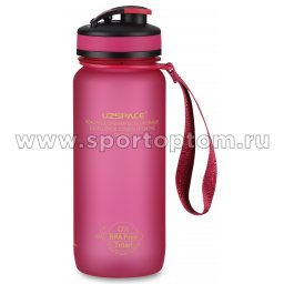 Бутылка для воды с сеточкой и мерной шкалой UZSPACE тритан 3030 Розовый