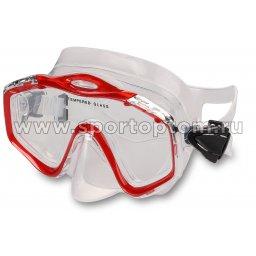 Маска для плавания  INDIGO CROW  взрослая IN055 Красный