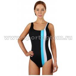 Купальник для плавания SHEPA совместный  женский со вставками 047 Черный